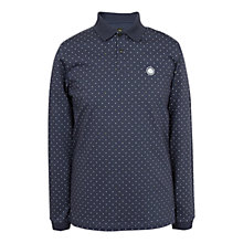Buy Pretty Green Long Sleeve Polka Dot Polo Shirt Online at johnlewis.com