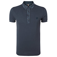 Buy Pretty Green Paisley Collar Polo Shirt, Navy Online at johnlewis.com