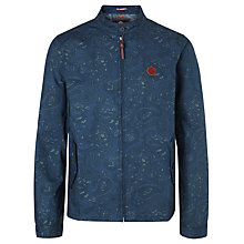 Buy Pretty Green Kingsway Paisley Harrington Jacket, Navy Online at johnlewis.com
