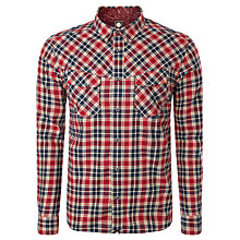 Buy Pretty Green Winter Check Shirt, Red Online at johnlewis.com