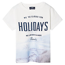 Buy Mango Kids Boys' Holidays T-Shirt, White/Blue Online at johnlewis.com