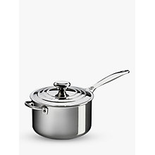 Buy Le Creuset Signature 3-Ply Stainless Steel Saucepan Online at johnlewis.com