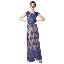Buy Phase Eight Antonia Dress, Lapis / Nude Online at johnlewis.com