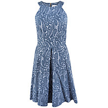 Buy Closet Paisley Racer Slit Dress, Blue Lapis Online at johnlewis.com