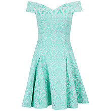 Buy Closet Jacquard Bardot Skater Dress, Mint Online at johnlewis.com