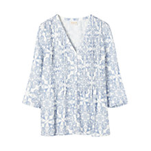Buy East Paisley Tile Print Blouse, White Online at johnlewis.com