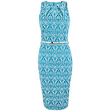 Buy Closet Jacquard Pencil Midi Dress, Turquoise Online at johnlewis.com
