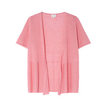 Buy East Linen Short Sleeve Cardigan, Flamingo Online at johnlewis.com