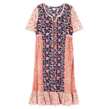 Buy East Sharma Patchwork Dress, Plum Online at johnlewis.com