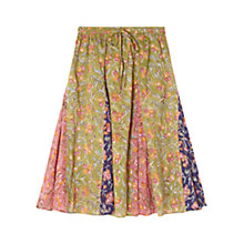 Buy East Sharma Patchwork Cotton Skirt, Meadow Online at johnlewis.com