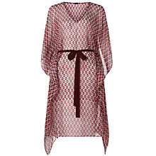 Buy Jigsaw Printed Silk Kaftan, Cherry Online at johnlewis.com