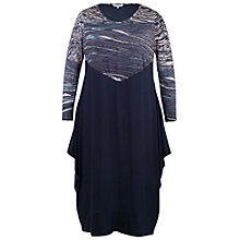 Buy Chesca Ribbon Print Bodice Dress, Navy Online at johnlewis.com