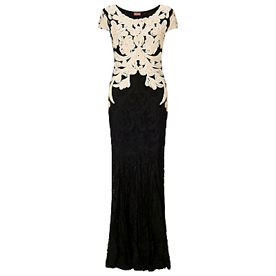 Phase Eight Collection 8 Allegra Tapework Dress, Black/Champagne