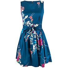 Buy Closet Bow Detail Cotton Skater Dress, Endless Blue Online at johnlewis.com