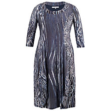 Buy Chesca Ribbon Print Dress, Navy Online at johnlewis.com