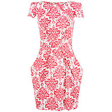 Buy Closet Damask Tie Back Dress, Vermillion Online at johnlewis.com