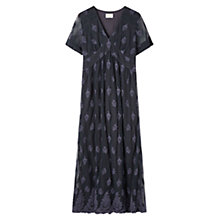 Buy East Lace Mesh Maxi Dress, Plum Online at johnlewis.com