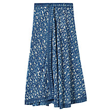 Buy East Jodhpur Print Wrap Maxi Skirt, Indigo Online at johnlewis.com