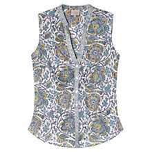 Buy East Arya Sleeveless Shirt, White Online at johnlewis.com