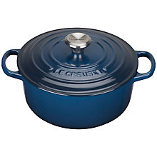 Buy Le Creuset Round Signature Casserole, Ink Online at johnlewis.com