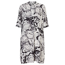 Buy Kin by John Lewis Digital Floral Fluid Dress, Grey Online at johnlewis.com