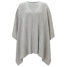 Buy Somerset by Alice Temperley Cable Knit Cape, Grey Online at johnlewis.com