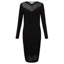 Buy Somerset by Alice Temperley Pointelle Knit Dress, Black Online at johnlewis.com