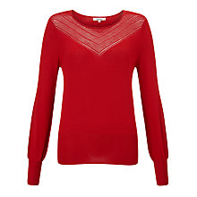 Buy Somerset by Alice Temperley Pointelle Knit Jumper, Red Online at johnlewis.com