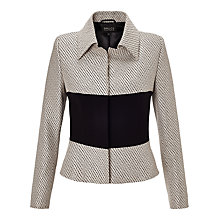 Buy Bruce by Bruce Oldfield Jacquard Jacket, Silver/Black Online at johnlewis.com