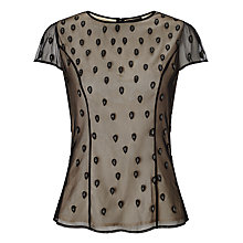 Buy Bruce by Bruce Oldfield Embellished Top, Black Online at johnlewis.com