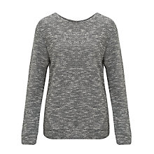 Buy Kin by John Lewis Textured Sweatshirt, Black / White Online at johnlewis.com