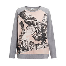 Buy Kin by John Lewis Broken Flower Print Sweatshirt, Grey Online at johnlewis.com