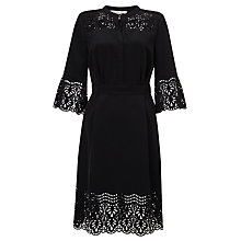 Buy Somerset by Alice Temperley Laser Cut Dress, Black Online at johnlewis.com