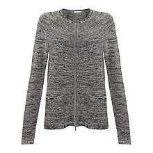 Buy John Lewis Capsule Collection Zip Through Cardigan, Grey Online at johnlewis.com
