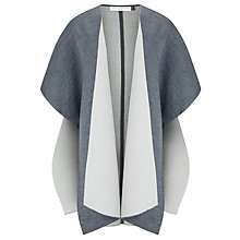 Buy John Lewis Capsule Collection Double Fold Poncho, Grey Online at johnlewis.com
