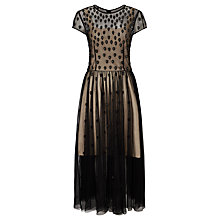 Buy Bruce by Bruce Oldfield Beaded Long Dress, Black Online at johnlewis.com