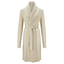 Buy Somerset by Alice Temperley Cable Knit Cardigan, Cream Online at johnlewis.com