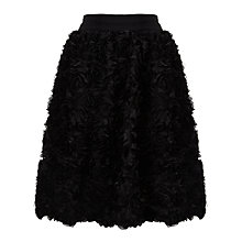 Buy Somerset by Alice Temperley Floral Appliqué Skirt, Black Online at johnlewis.com