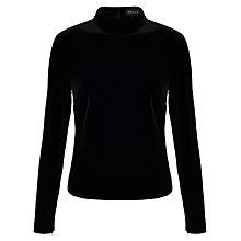 Buy Bruce by Bruce Oldfield Stretch Velvet Top, Black Online at johnlewis.com