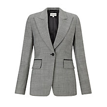 Buy Somerset by Alice Temperley Check Jacket, Grey Online at johnlewis.com