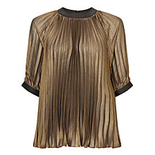 Buy Bruce by Bruce Oldfield Pleated Top, Bronze Online at johnlewis.com