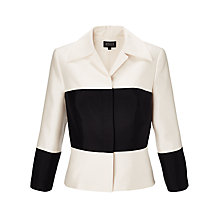 Buy Bruce by Bruce Oldfield Contrast Trim Jacket, Cream/Black Online at johnlewis.com