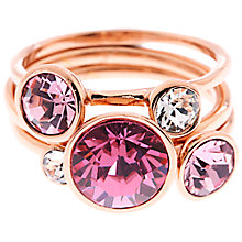 Buy Ted Baker Jackie Jewel Stack Ring, Rose Gold Online at johnlewis.com