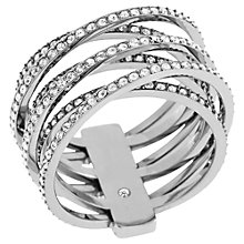 Buy Michael Kors Clear Crystal Criss Cross Ring Online at johnlewis.com