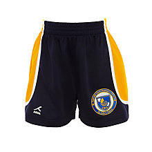 Buy St John's International School Boys' Sport Shorts, Navy Blue/Yellow Online at johnlewis.com