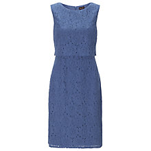 Buy Phase Eight Darcey Double Layer Dress, Denim Online at johnlewis.com