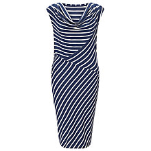Buy Phase Eight Samantha Stripe Cowl Neck Dress, Navy / White Online at johnlewis.com