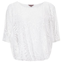 Buy Phase Eight Cecily Burnout Top, White Online at johnlewis.com
