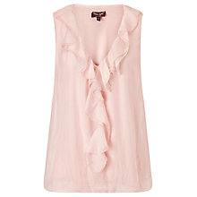 Buy Phase Eight Silk Esta Frill Blouse, Cameo Pink Online at johnlewis.com