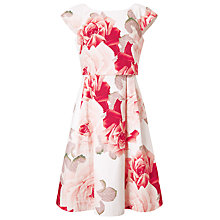 Buy Phase Eight Bernadette Rose Print Dress, Red / White Online at johnlewis.com